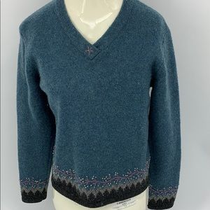 Woolrich V-Neck Wool Sweater. Sz. S